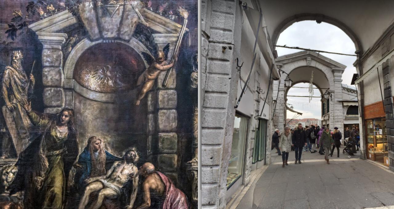 Vision von Jesus Malerei