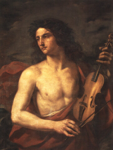 05 picture - painting 'Orpheus' the hero of the opera· with a violin· by Cesare Gennari