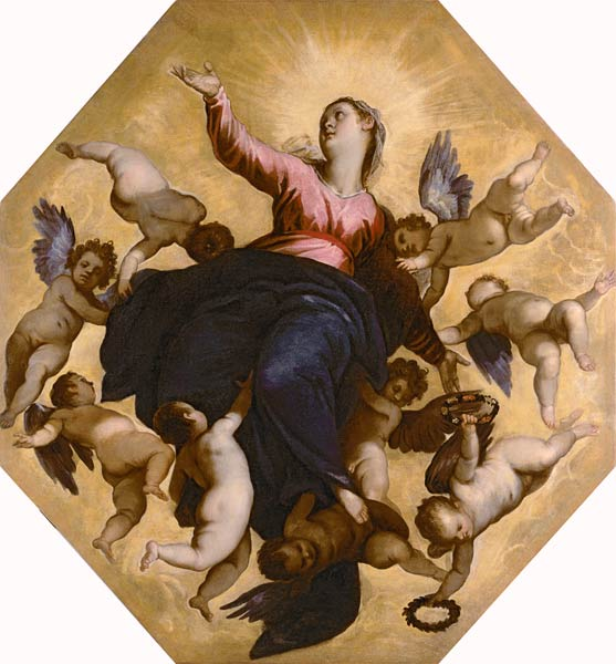 picture 4 - painting »L'Assunta« by Palma il Giovane, 1595, Ospedale, Venice