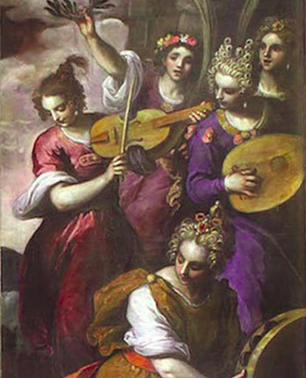 picture 4 - Palma il Giovane - Palmina with Lute (right) Palma's mother (Violin) Mihaela (middle)