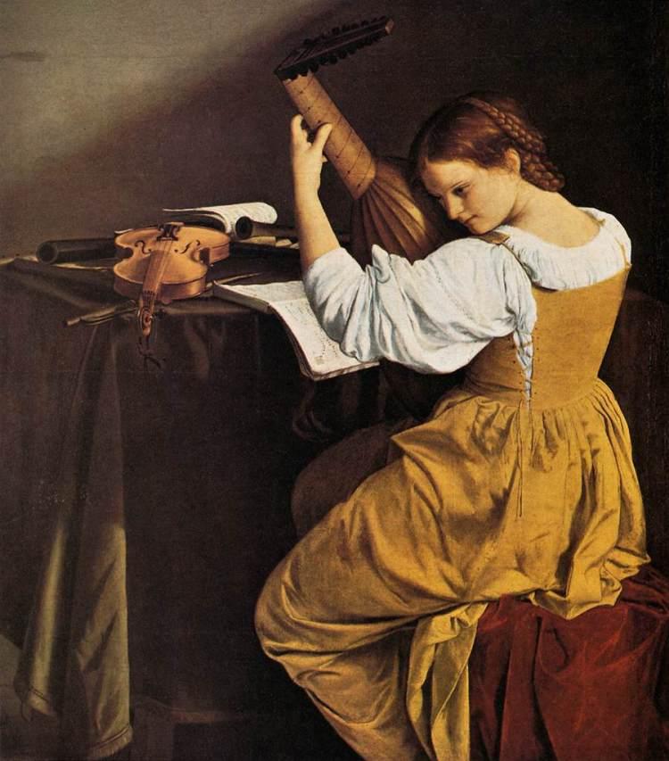 picture 1 - »Suonatrice di liuto« by GENTILESCHI Orazio (1626)