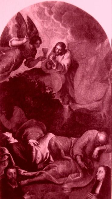 picture 4 - The painting at »La Zitelle« by Jacopo Palma il Giovane (Orazione nell_orto con, ai piedi, i committenti Pasquale ed Elisabetta Foppa) at La Zitella - Palma il Giovane