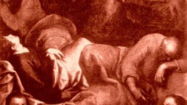 picture 6 - The painting at »La Zitelle« by Jacopo Palma il Giovane (Orazione nell_orto con, ai piedi, i committenti Pasquale ed Elisabetta Foppa) at »La Zitelle« by Palma il giova