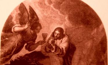 picture 7 - The painting at »La Zitelle« by Jacopo Palma il Giovane (Orazione nell_orto con, ai piedi, i committenti Pasquale ed Elisabetta Foppa) at »La Zitelle« by Palma il giova