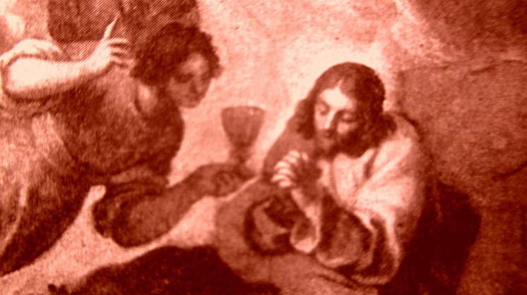 picture 9 - The painting at »La Zitelle« by Jacopo Palma il Giovane (Orazione nell_orto con, ai piedi, i committenti Pasquale ed Elisabetta Foppa) at »La Zitelle« by Palma il giova