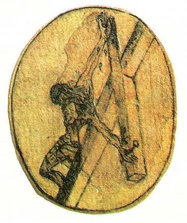 picture 02 - drawing artwork by John of the Cross »crucifixion«
