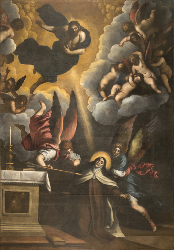 picture 03 - painting of Palma il Giovane Saint Terese of Avila by Palma il Giovane at church of San Pancrazio in Rome (1618)