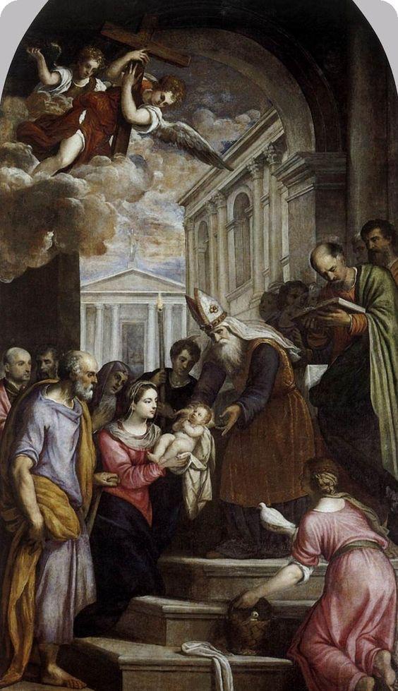 picture 1 - Presentation of Jesus in Temple« by Palma il Giovanne (Isola Giorgia Maggiore, Venice )