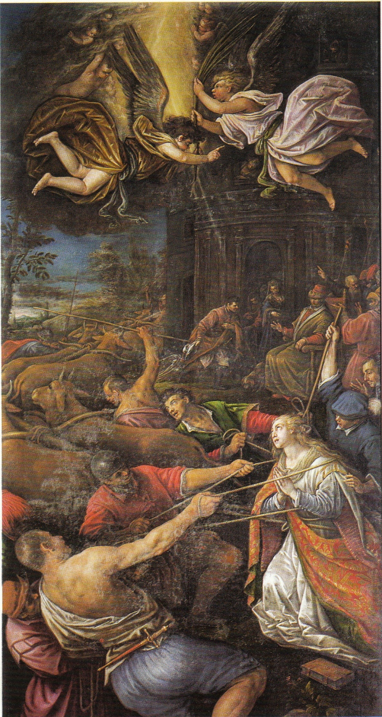 picture 2 - Miracle of the immobility of Sta Lucia by Leandro Bassano