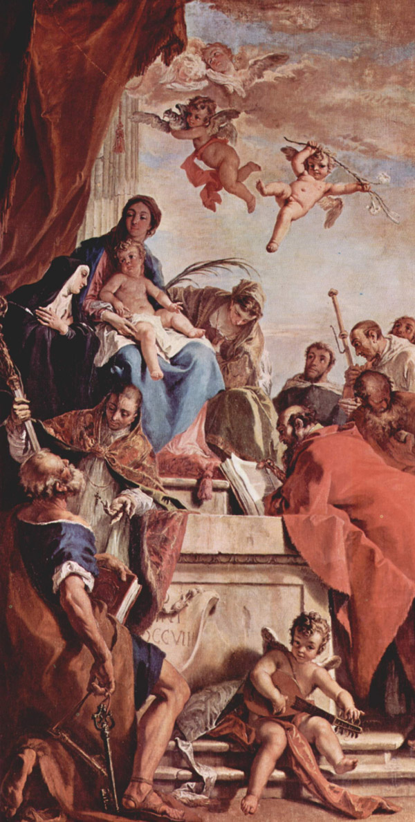 picture 4 - Madonna enthroned with Saints by Sebastiano Ricci