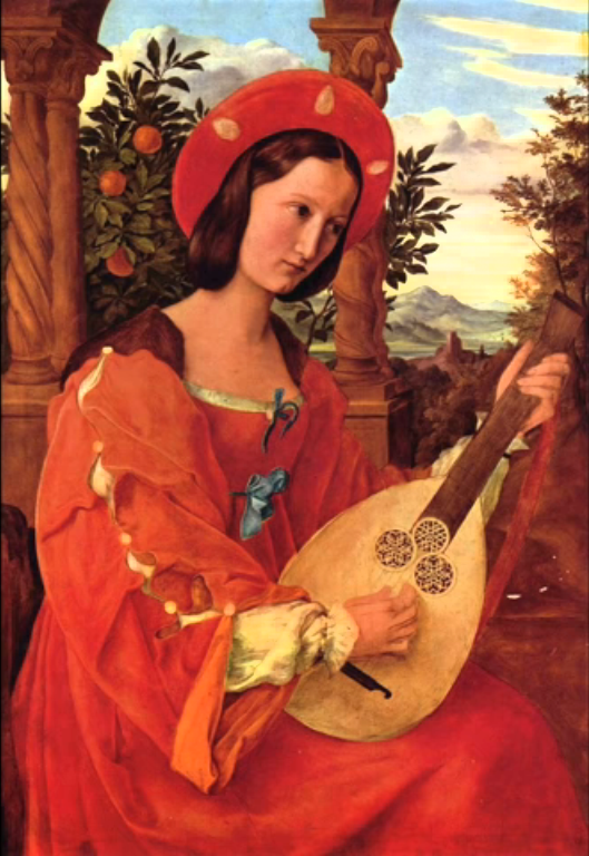 picture 1 - painting of lute playing women
