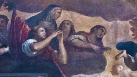 picture 3 - detail of palma's painting »trionfo di san giulian«