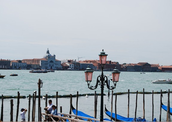picture - view from the big promenade to the »le zitelle« on giudecca island