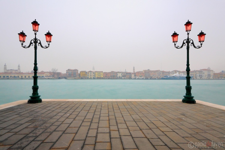 Two lamp posts - Giudecca, Venice, Italy