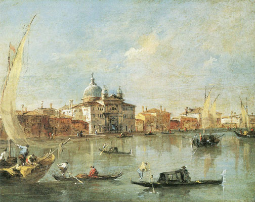 picture 3 - Big Promenade and »Le Zitelle« on Giudecca - painting by Guardi Francesco