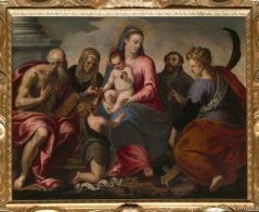 picture 02 - 1581 (chiesa il redentore) »Virgin and Child with the Infant Saint John and Saints Jerome, Anne, Francis and Catherine of Alexandria«