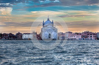 picture 49 - redentore-church-venice-italy-chiesa-del-santissimo-water-venezia-italia-under-colorful-evening-sky-56242828