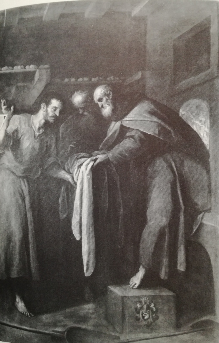 picture 5 - black white photograph of painting »Miracolo del fornaio«- Palma il Giovane (1593).jpg