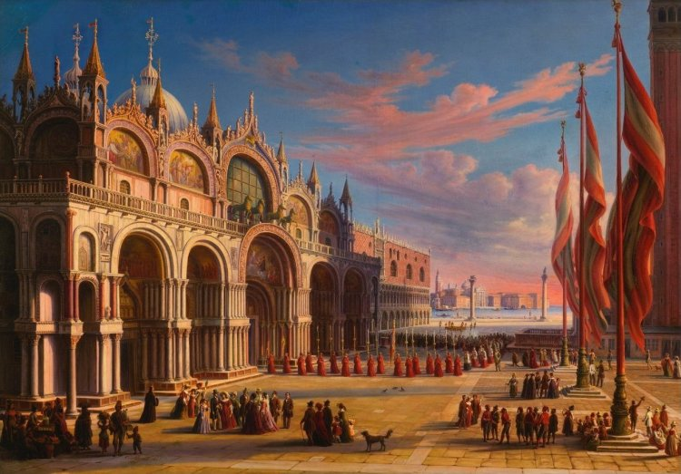 picture - 3 'Piazza di San Marco, Venice' by Carl Ludwig Rundt.jpg