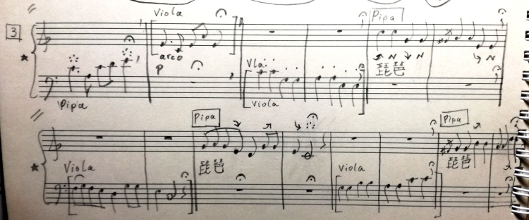 "picture - part [3] of the ""Dialogue for Pipa and Viola"" by Gerald Spitzner"