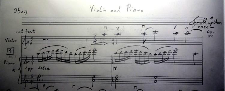 01 [95c] Music score of Violin and Piano 95c DSC00818