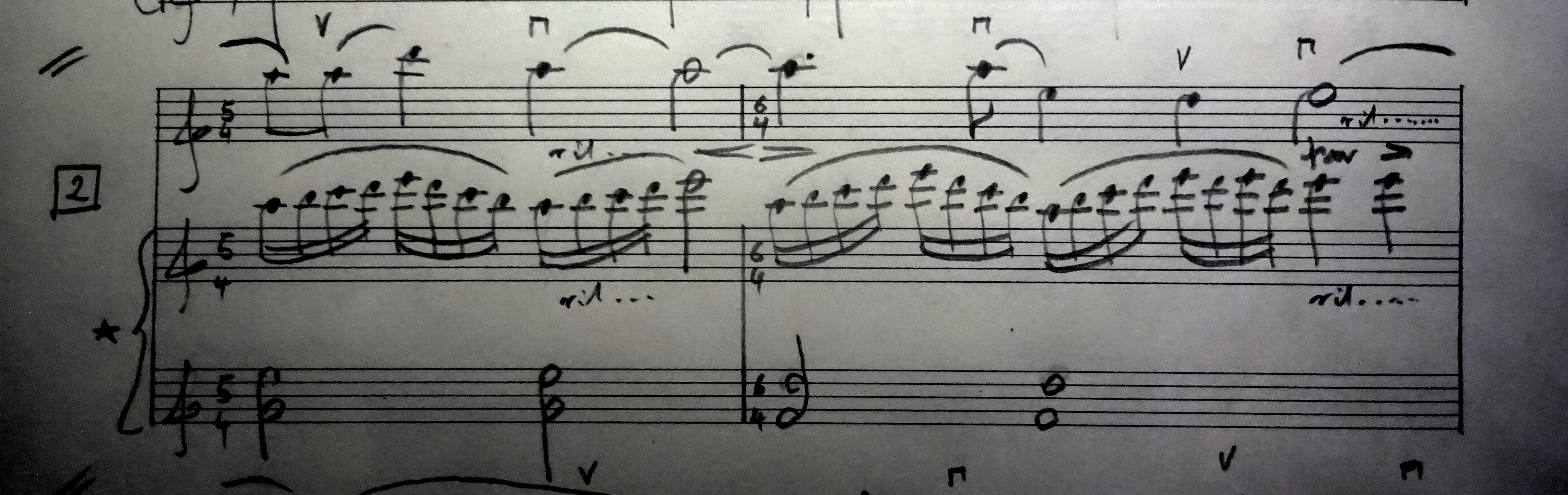 02 [95c] Music score of Violin and Piano 95c DSC00819