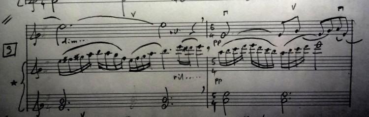 03 [95c] Music score of Violin and Piano 95c DSC00820