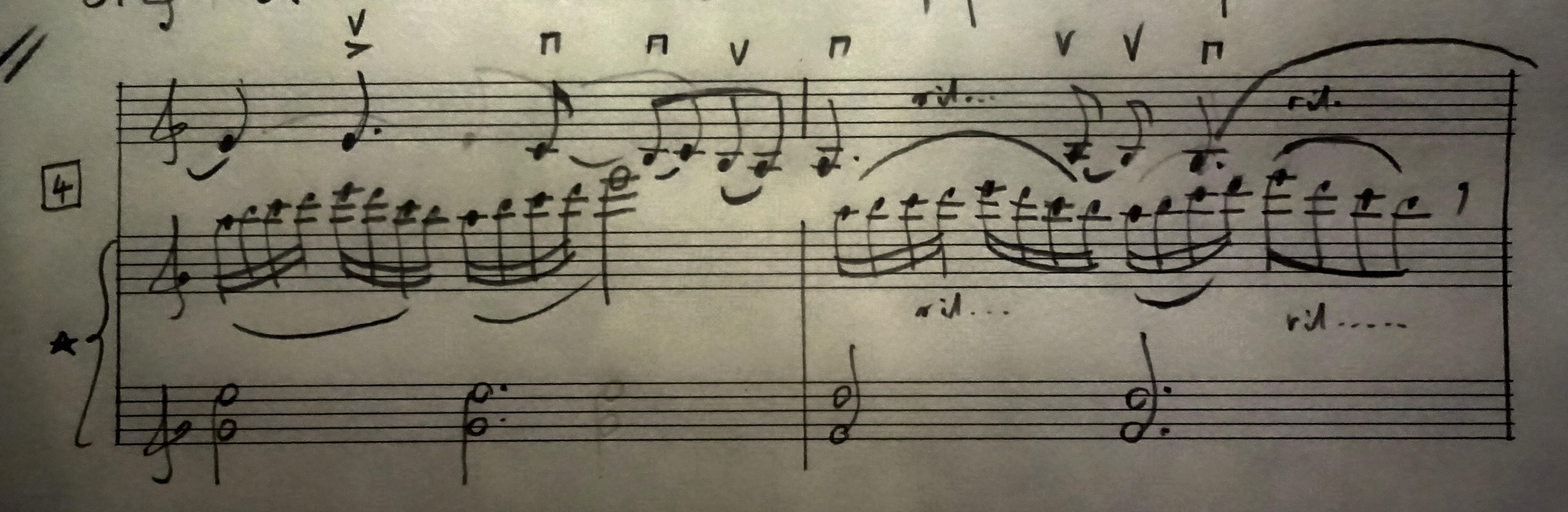 04 [95c] Music score of Violin and Piano 95c DSC00821