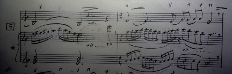 05 [95c] Music score of Violin and Piano 95c DSC00822