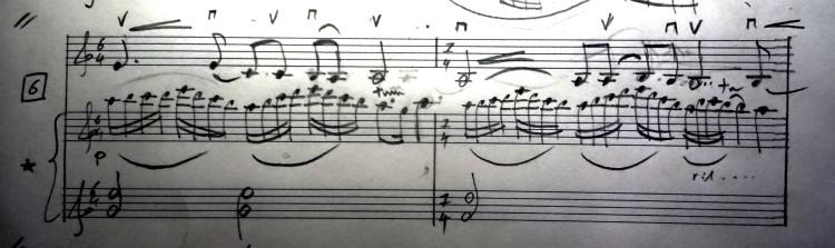 06 [95c] Music score of Violin and Piano 95c DSC00823