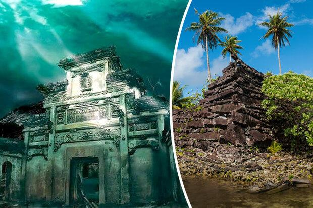 27 [picture] Nan Madol Ancient Cities (above and under water)
